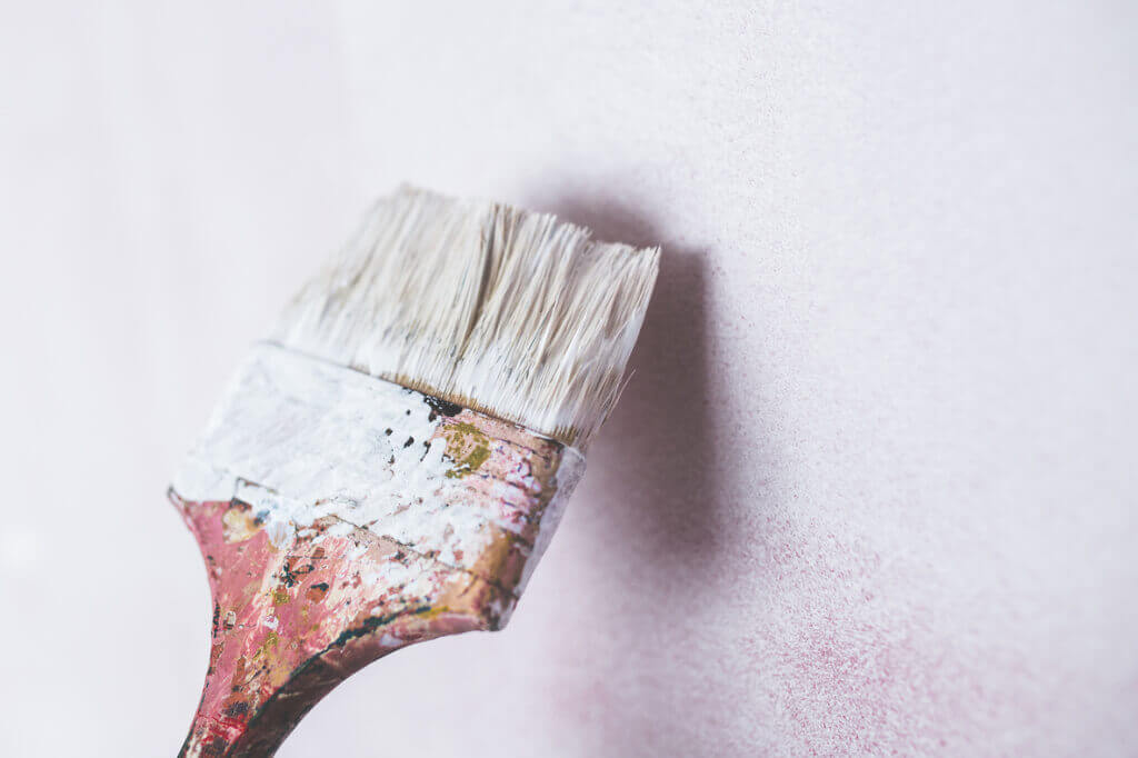 get excited about renovation brush painting the wall white